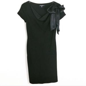Brooks Brothers Black Merino Wool Silk Dress